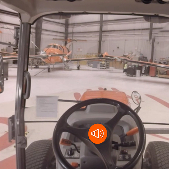Screengrab of a tractor vr experience